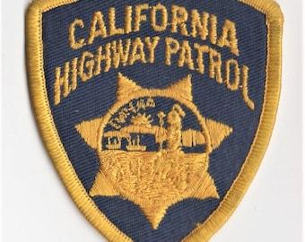 Original Vintage 1970s-80s CALIFORNIA HIGHWAY PATROL (CHiPs) Embroidered Uniform Patch Shoulder Navy Blue & Gold