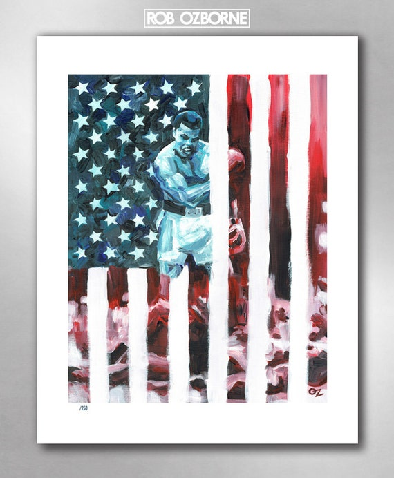 CHAMP ALI - Honoring Muhammad Ali - Limited Edition American Hero Art Print 11x14 by Rob Ozborne