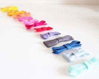 10 Bow crocodile hair clip plain fabric  - IN STOCK -