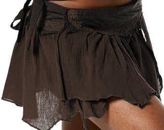 STEAMPUNK skirt - Assorted colours, psytrance skirt, PIXIE SKIRT, ethnic skirt, goa Skirt, Elf Mini Skirt, Clskhf