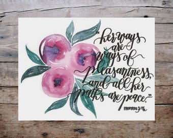 Pleasantness And Peace Print - Proverbs 3:17