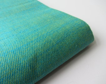 Blue green reversible cotton silk fabric number 813  - 1/4 yard | fat quarter
