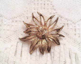 Modernist Flower Brooch, Sarah Coventry, Vintage Jewelry SPRING SALE
