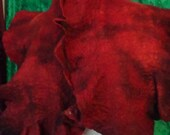 ON SALE Wearable art, Felted collar, Felted fashion scarves, Felted wool shawl, Blanket wrap, Wool wrap, Nuno felted scarf, Boho handmade Wr