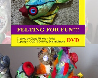 DIY, Nuno felting tutorial, Wet felting tutorial, Felting animals, Felting pattern, Felting instructions PDF tutorial Step by step felting