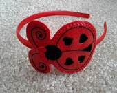 RESERVED listing for CARA Lady bug headband slider - Hair accessory