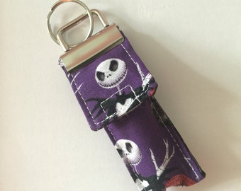 Keychain Chapstick Holder in Nightmare before Christmas
