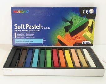 Chalk Pastels - Pastel Chalks - Mungyo Soft Pastels - Square Drawing Chalk - Destash Supplies - Vintage Art Supplies - Gift for Artist