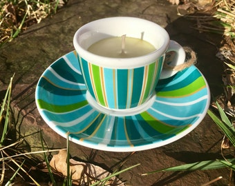Chamomile Tiny Teacup Candle  and Saucer