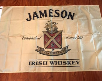 Jameson Irish Whiskey Flag Banner 3 Feet by 5 Foot