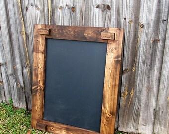 Chalkboard  45 x 20, Chalkboard Sign, Wedding Sign, Engagement Party, Rustic Wedding, Framed Chalkboard
