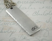 Soul Sisters Forever Inspiration Bar Hand Stamped Necklace