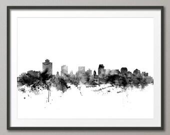 Salt Lake City Skyline, Utah Cityscape Art Print (2577)