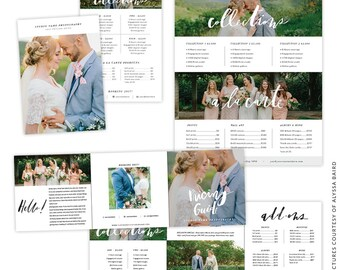 INSTANT DOWNLOAD - 5x5 Pricing Guide Accordion Card Template - e1463
