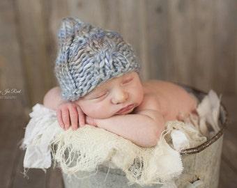 Newborn Cabled Gnome Hat