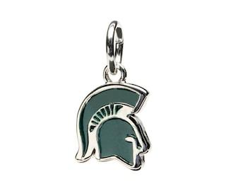 Michigan State University Spartan Head Dangle Charm Pendant