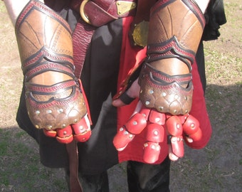 Articulated Leather Gauntlettes