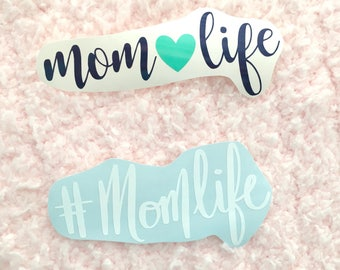 Mom Life Car Decal - Mom Life Decal - #momlife Decal - Mom Decal - Gifts for mom