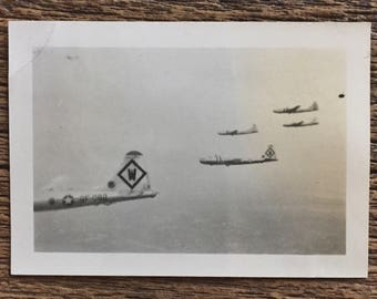 Original Vintage Photograph Sky Wars
