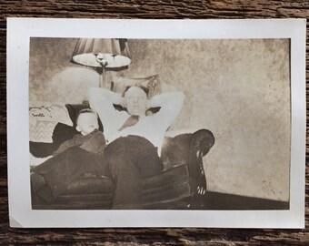 Original Vintage Photograph Uncle Jack Relax