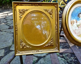 Gold Frame, Oval Frame, Italy, Italian Frame, Gold Floral Frame, Photo Frame, Wedding, Shabby, Cottage, Rustic, Frame, Oval Matt Frame