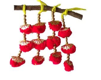 Red and Gold Camel Decoration - Boho Tassel 1 Pair / Embellishment / Decoration / Women Dress Tassels
