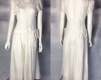 SALE! 1930s silk wedding dress