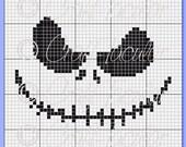 Jack Skellington Crochet (C2C) Perler Bead Pattern