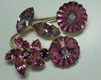 Pink Margarita and Flower Brooch   Item: 17479