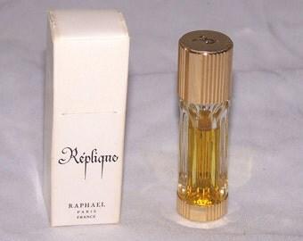 Vintage Replique Raphael Paris Parfum Perfume and Box 1/8 oz - 90% Full Mini