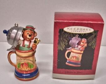 "1994 Hallmark Keepsake Ornament "" Cheers To You"" In Original Box Christmas Ornaments"