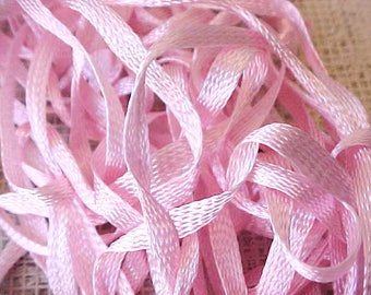 Pretty Edwardian Era Pink Silky Woven Ribbon or Trim