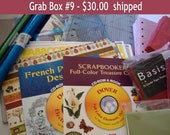 DESTASH, Grab Box, Digital clipart,cutting mat, shrinkydink, hologram decorative paper, scrapbook paper, clipart, envelopes, stationery