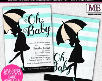Oh Baby, Whimsical Baby Shower invitation