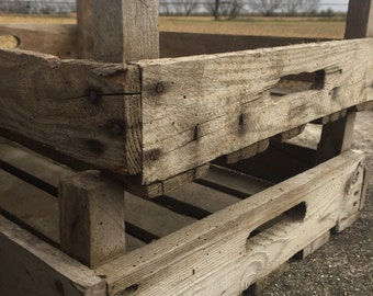 Vintage French Orchard Crate