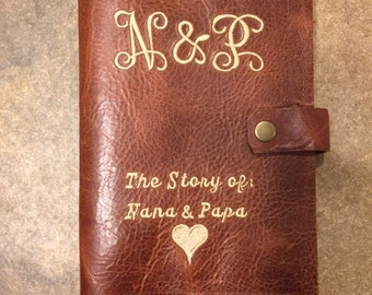 Rustic monogrammed leather journal,Leather writing journal, refillable journal, Personalized journal, leather journal cover,travel journal