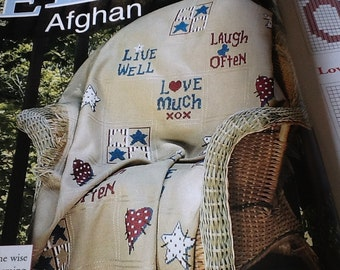 C- LIVE WELL AFGHAN - Cross Stitch Pattern Only