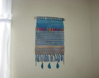 Ohio Driftwood Woven Wall Hanging with Beads Home Decor