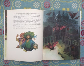 Very Rare Beautifully Illustrated Sinbad the Sailor - 1970s Vintage Book