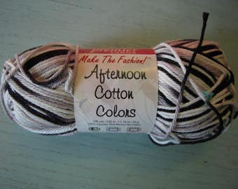 Premier Afternoon Cotton Light Weight Yarn NEW OVERSTOCK - 136 Yards Green Purple - English Garden
