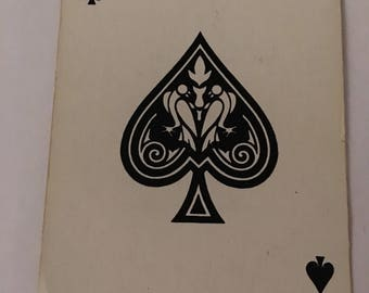Scrapbooking Graphic Ace of Spades Card