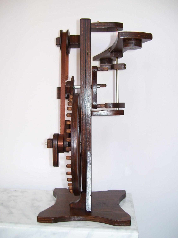 Unique Desk Art Kinetic Sculpture Wooden Handmade Clock