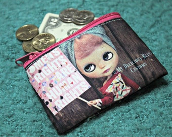 Lola Blythe Custom Full Color Printed 2 Sided Coin Purse Womans March 2017 Tribute