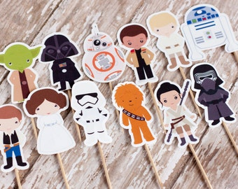 Star Wars Cupcake Toppers - Set of 12 Toppers
