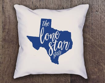 Texas The Lone Star State Pillow Cover - Graphic Pillow Sham - Custom Linen Pillow Cover - Pillow Cover - Southern Girls State Collection