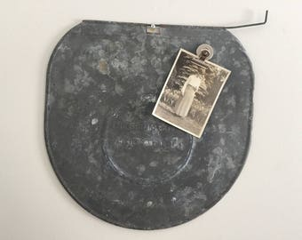 Vintage Metal Magnetic Memo Board Sap Bucket Lid The Grimm Cover 1904