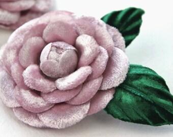Wedding shoe clips, bridal flower shoe clips, velvet flower shoe brooches, pink flower shoe clips, wedding shoe clips