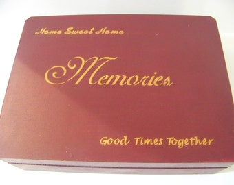 "hand painted ""Memoires"" box done by me aprox 12X9X3"