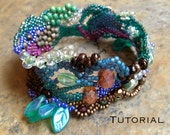 Peacock Spring Freeform Peyote Bracelet Design Notes & PDF Tutorial