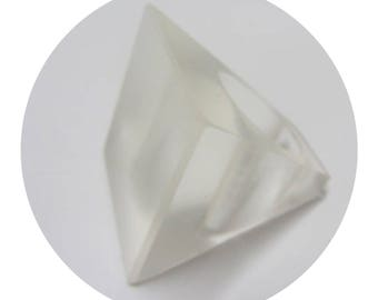 Square Geometric Parlour Resin Design Clear Statement Handmade Chunky Ring